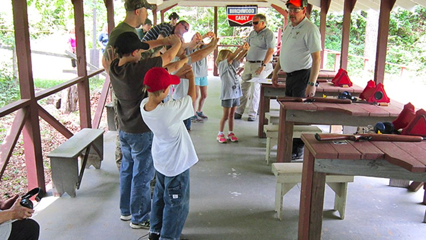 Boy Scouts join American Legion and NRA Instructors for Camp Noble Cause