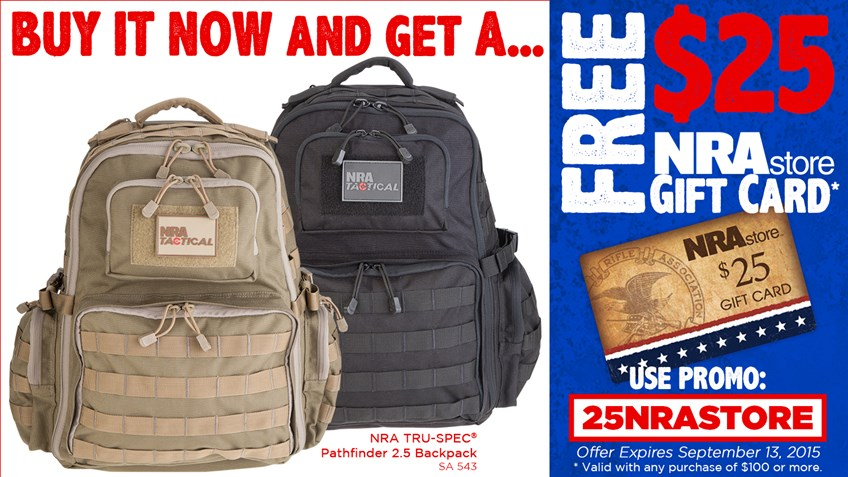 Get Your NRA Pathfinder 2.5 Backpack Today!