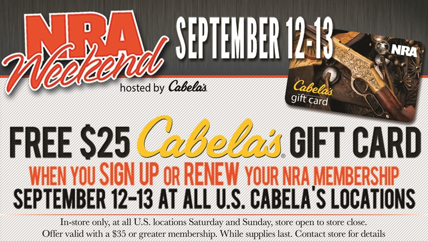 Cabela's Hosts NRA Weekend This Sept. 12-13