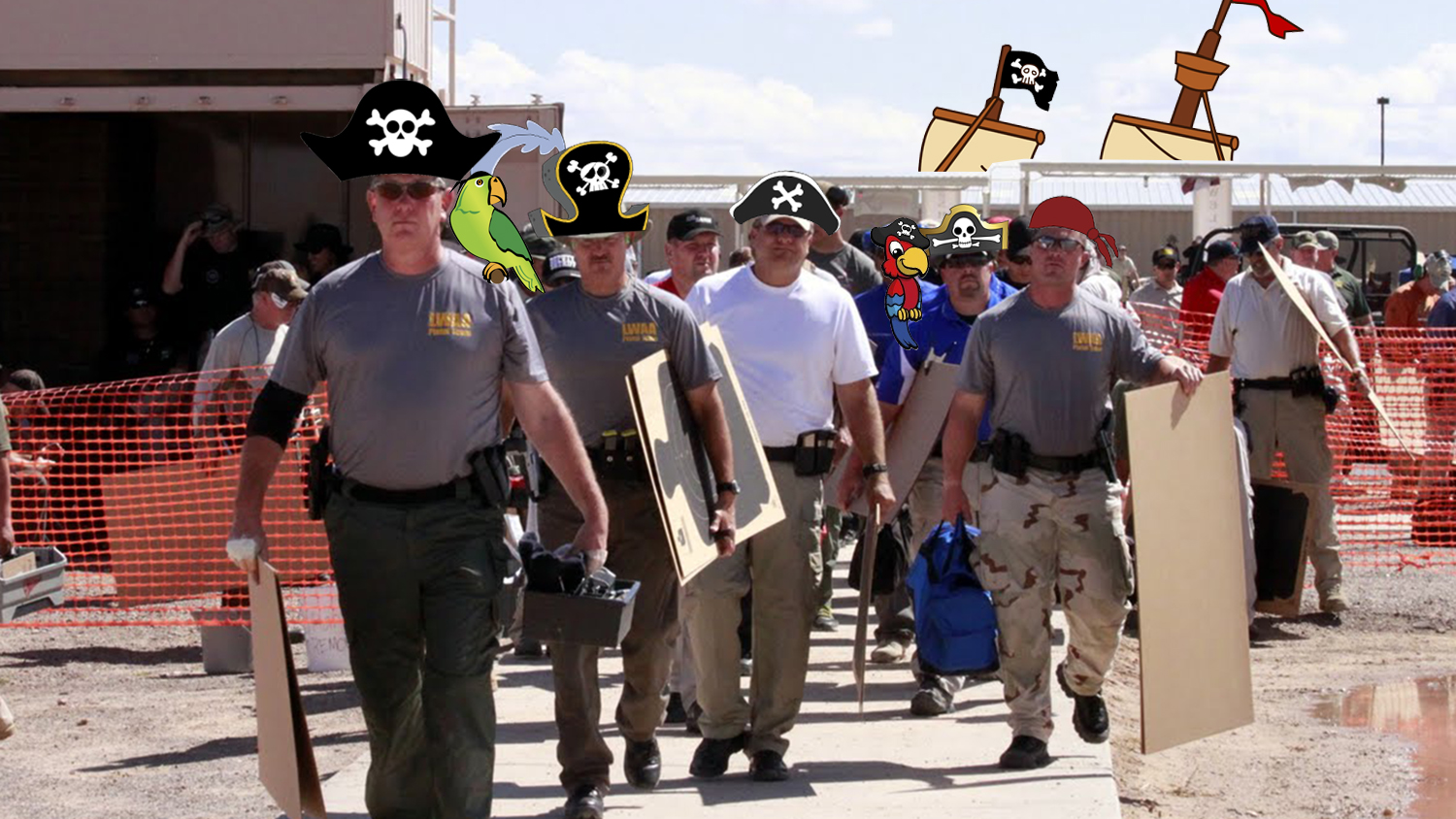 Yarr! We're Settin' Sail Fer Th' National Police Shooting Championships We Are