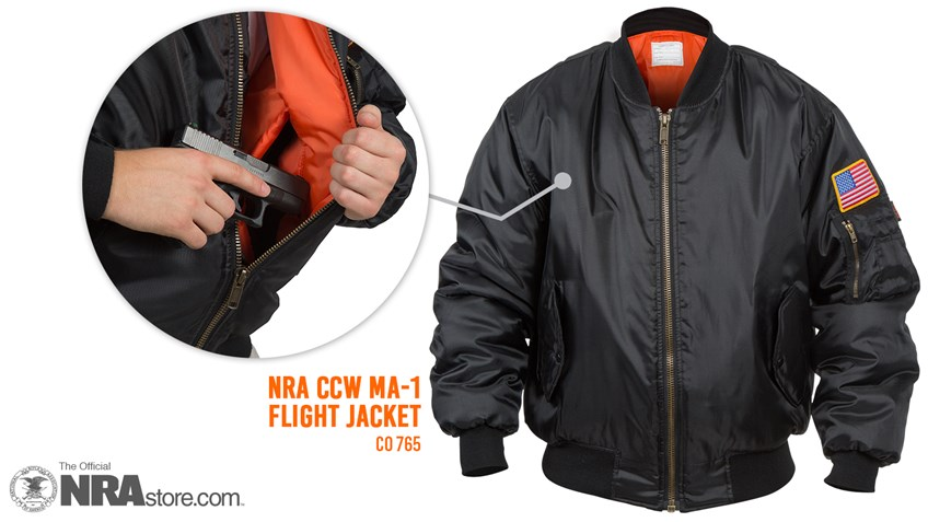 The NRA Flight Jacket Is Your New Favorite CCW Garment