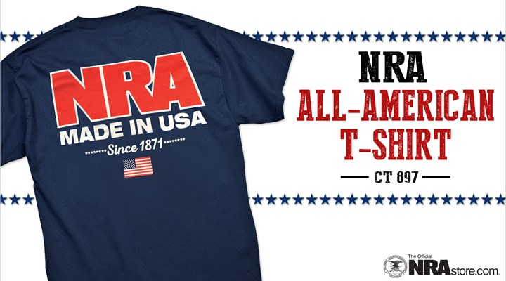 Show Off Your NRA Pride With The All-American T-Shirt