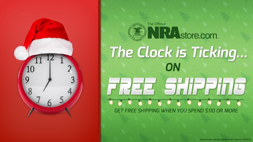 Two more days of free shipping on NRAstore.com