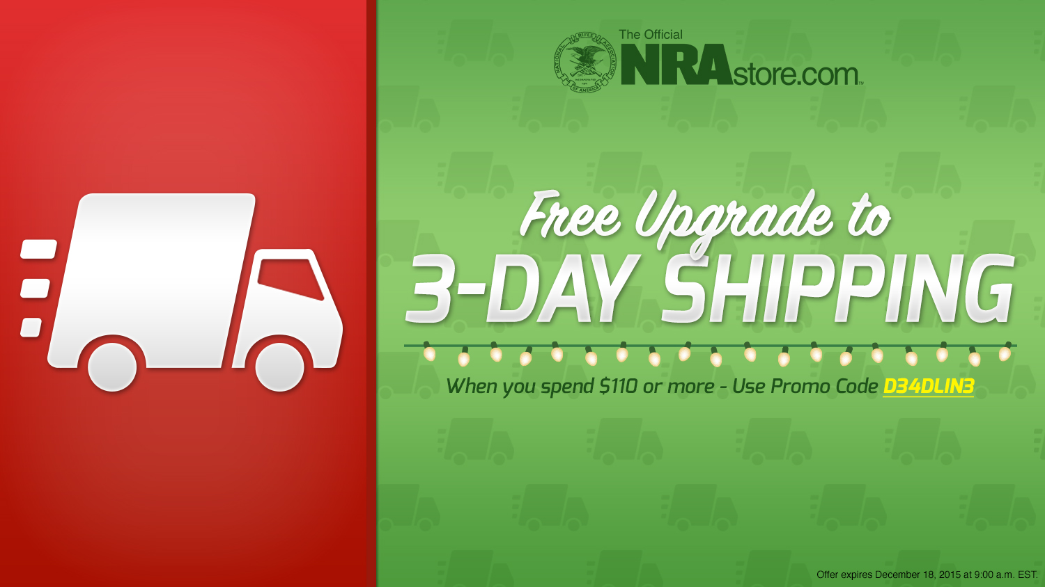 Shop last minute Christmas gifts with FREE upgrade to 3 day shipping at NRAstore.com