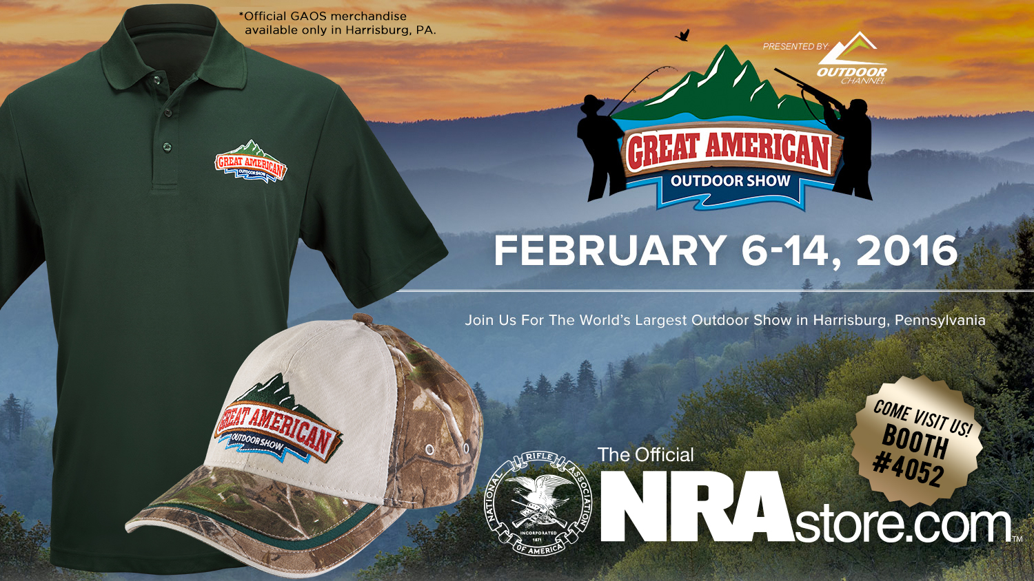 Get Your Great American Outdoor Show Gear at the NRA Store