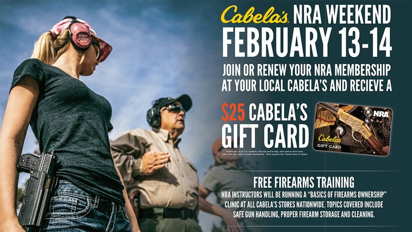 Cabela's Hosts NRA Weekend February 13-14