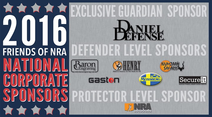 2016 Friends of NRA National Corporate Sponsor Program