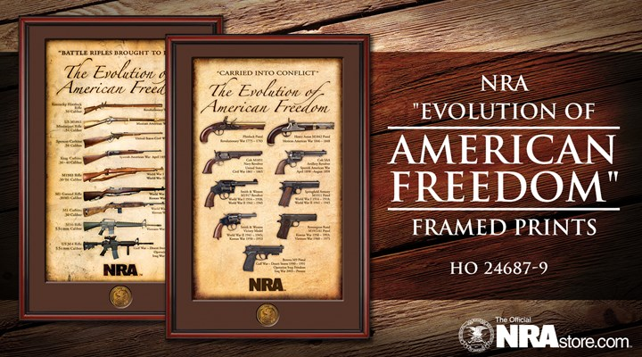 "NRA Product Highlight: ""Evolution of American Freedom"" Framed Prints"