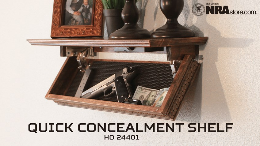 NRA Store Product Highlight: Quick Concealment Shelf