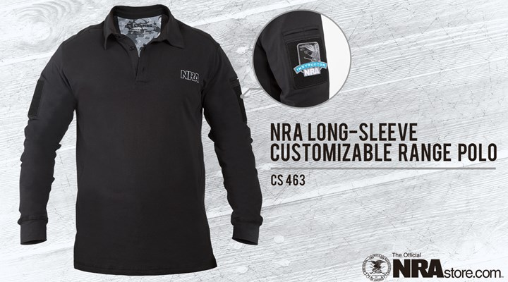 NRA Store Product Highlight: Long Sleeve Customizable Range Polo
