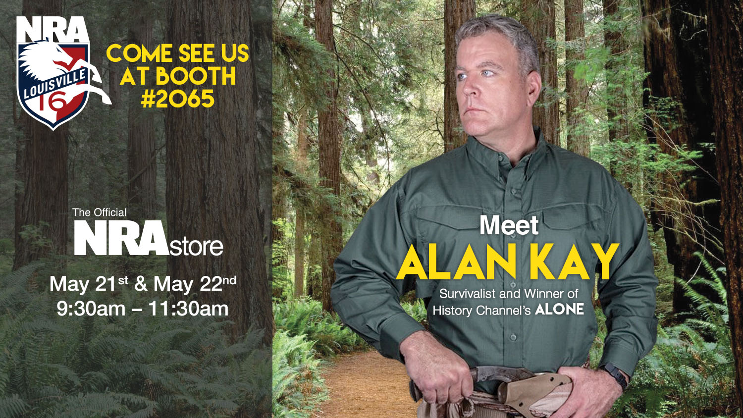 Meet Alan Kay at the NRAStore Booth at Annual Meeting