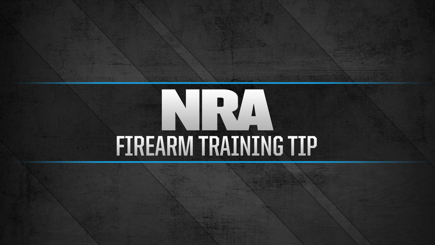 NRA Firearm Training Tip: Shooting Controlled Pairs