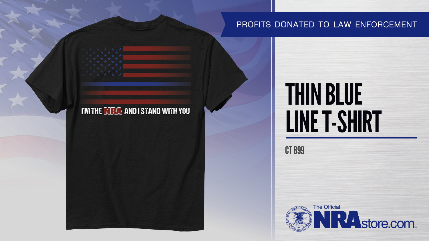 NRA Store Product Highlight: Thin Blue Line T-Shirt