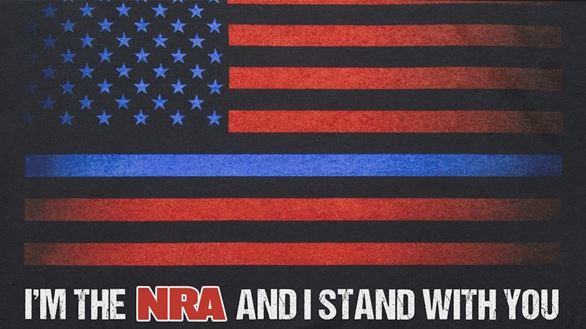 NRAstore 'Thin Blue Line' T-Shirt raises $39,000 for law enforcement
