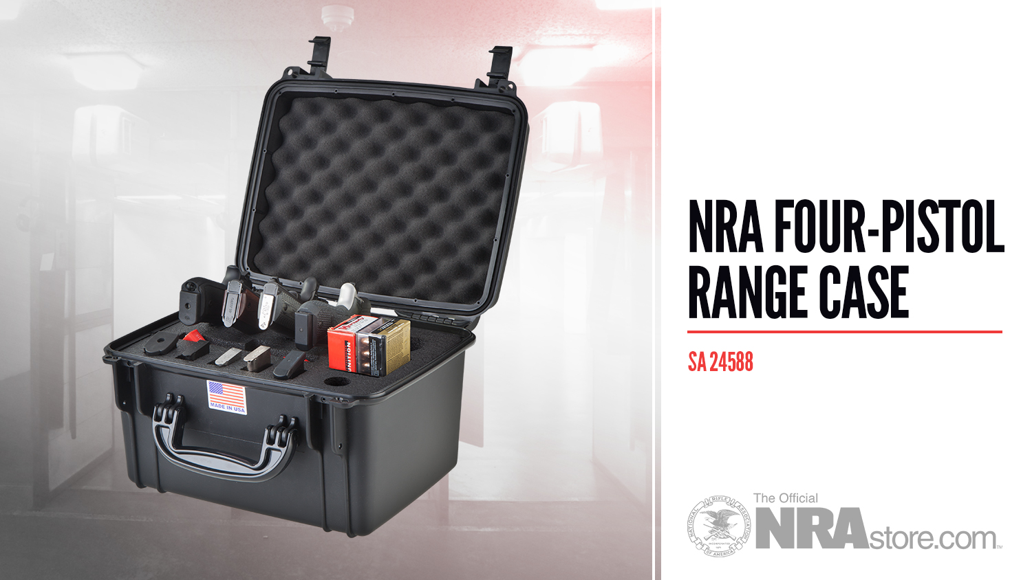 NRAstore Product Highlight: Four-Pistol Range Case