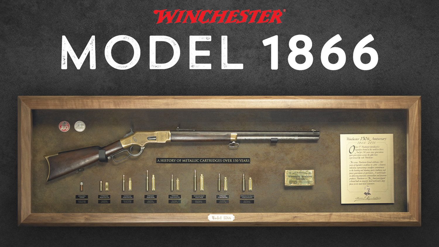 Bid Now For Winchester's Last 150th Commemorative Bullet Board