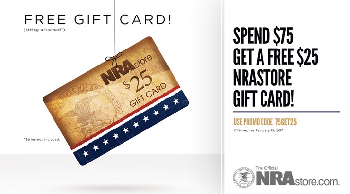 $25 NRAstore Gift Card With Order of $75 or More