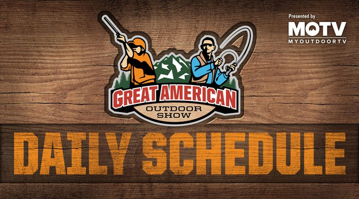 Great American Outdoor Show: Day 3 Schedule