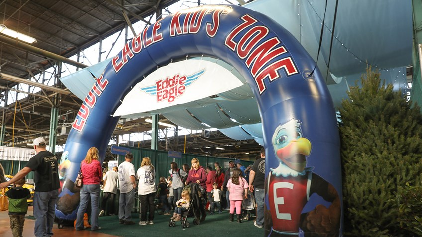 Eddie Eagle Kid Zone Drawing Big Crowds
