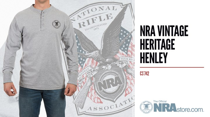 NRAstore Product Highlight: NRA Vintage Heritage Henley