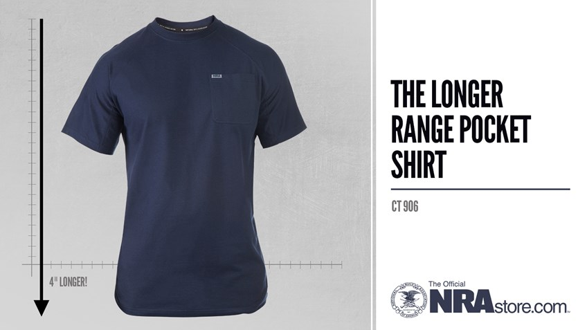 NRAstore Product Highlight: The Longer Range Pocket T-Shirt