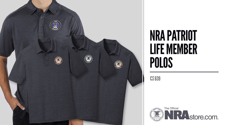 NRAstore Product Highlight: NRA Patriot Life Member Polos