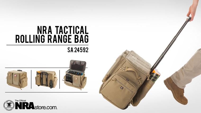 NRAstore Product Highlight: Tactical Rolling Range Bag