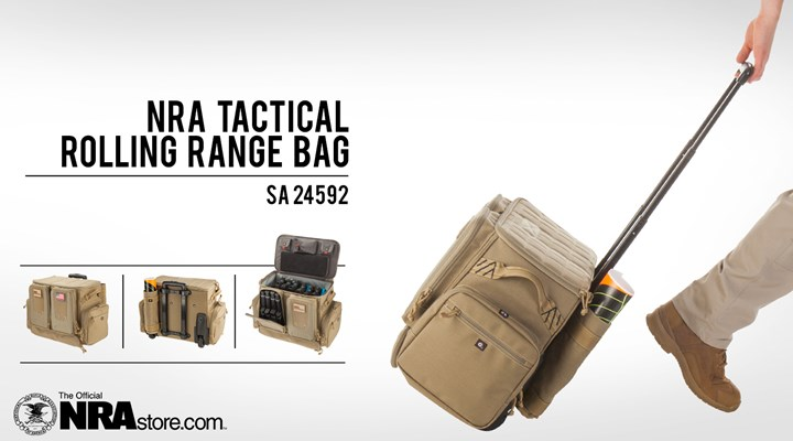 NRAstore Product Highlight: Tactical Rolling Range Bag