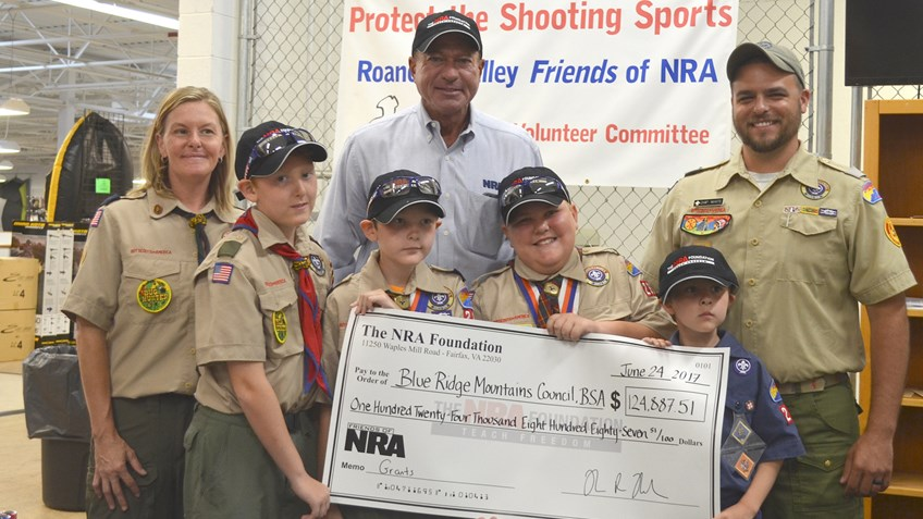Big Checks Represent Big Support For The Shooting Sports In Roanoke, Virginia