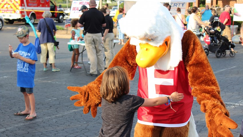 Eddie Eagle Supports Law Enforcement Community Safety Efforts During 2017 National Night Out