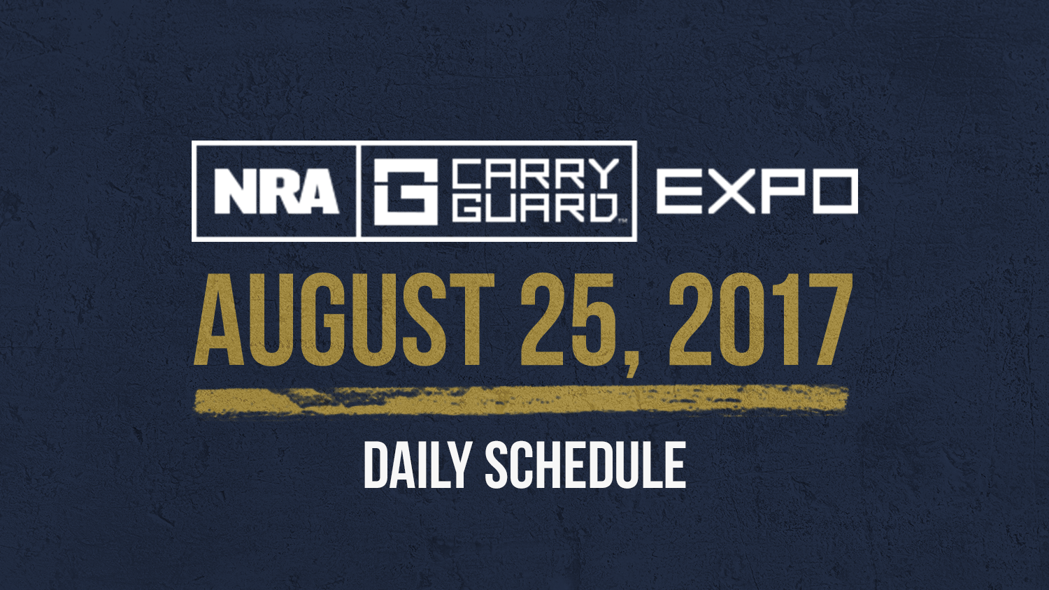 NRA Carry Guard Expo Events: Friday, August 25th