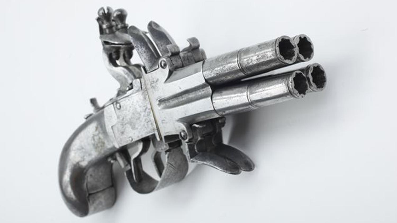 Four-Barrel Flintlock Pistol