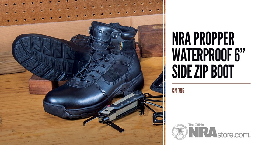 NRAstore Product Highlight: NRA Propper Waterproof 6-Inch Side Zip Boot