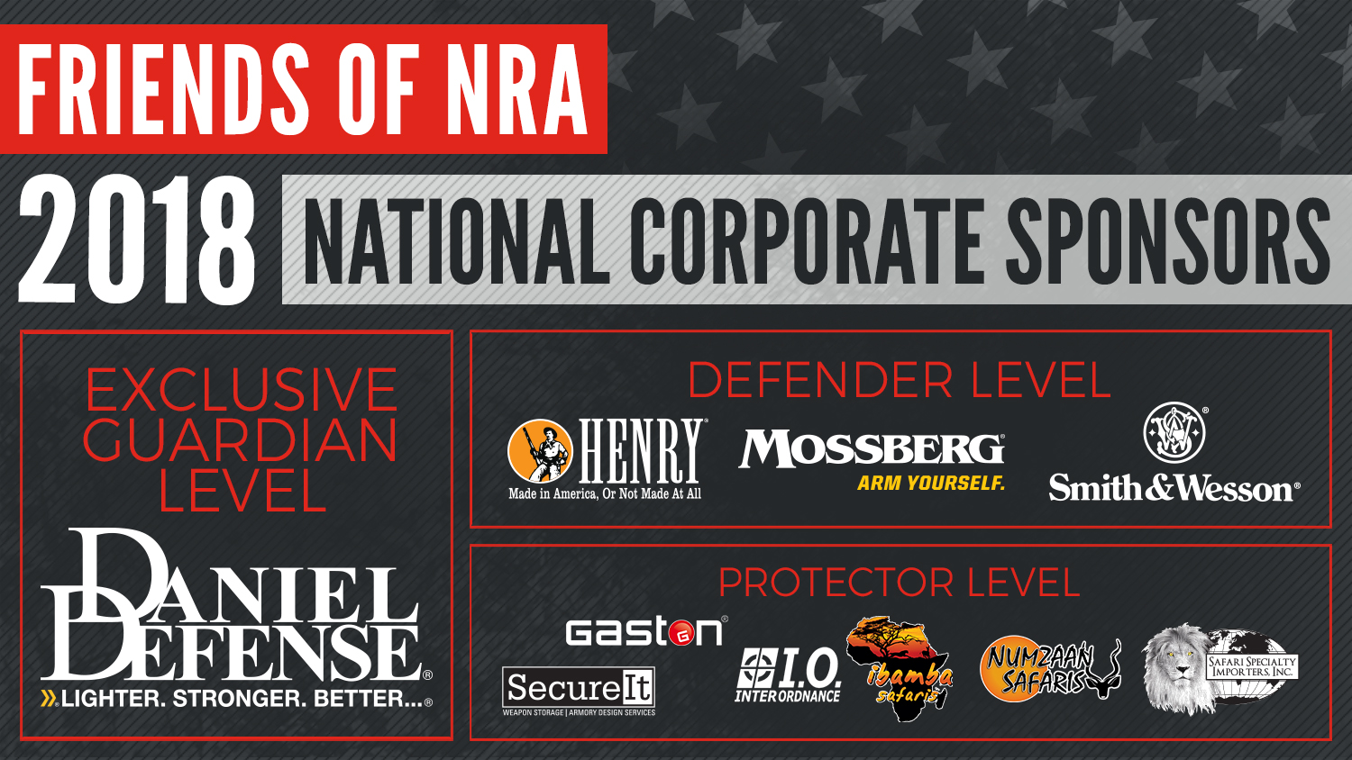 2018 Friends of NRA National Corporate Sponsor Program