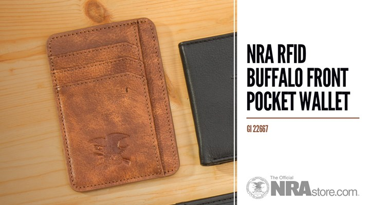 NRAstore Product Highlight: NRA RFID Buffalo Front Pocket Wallet