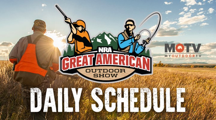 2018 Great American Outdoor Show Daily Schedule - Sunday, February 4
