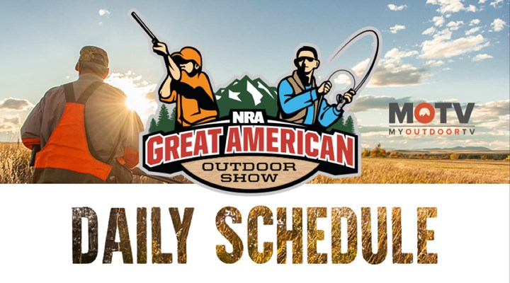 2018 Great American Outdoor Show Daily Schedule - Monday, February 5