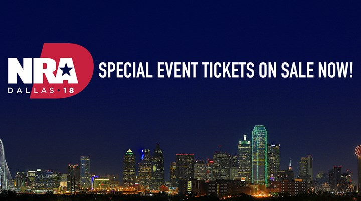 Tickets On Sale Now for Special Events at NRAAM in Dallas!
