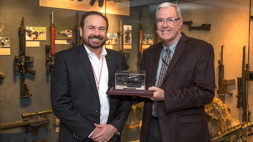 American Rifleman: Trijicon Presents Commemorative One Millionth ACOG to NRA Museum