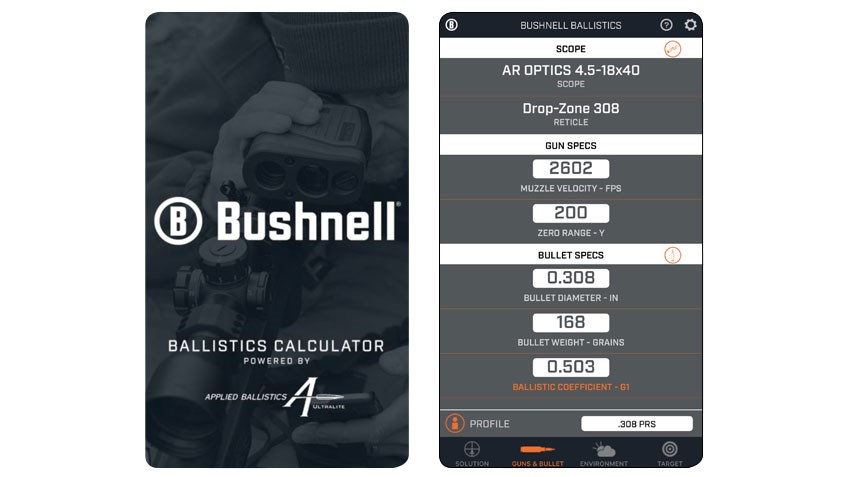Product Preview: Bushnell Ballistics App