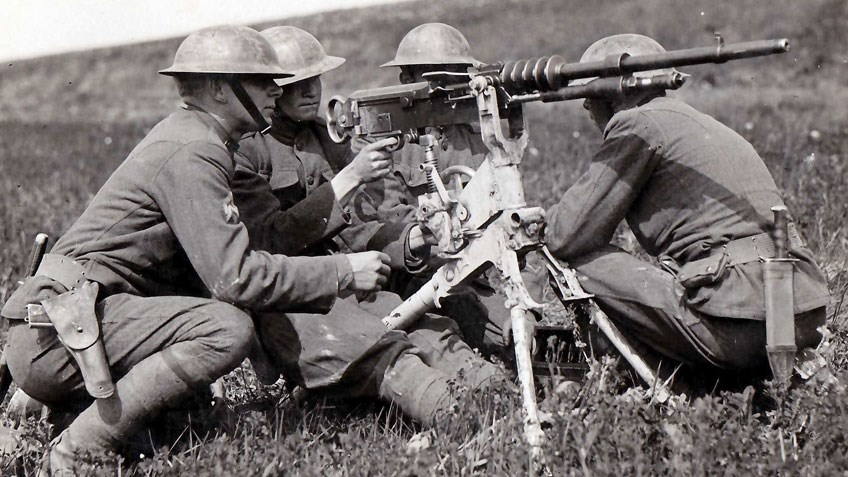 The Hotchkiss Model Of 1914 Heavy Machine Gun