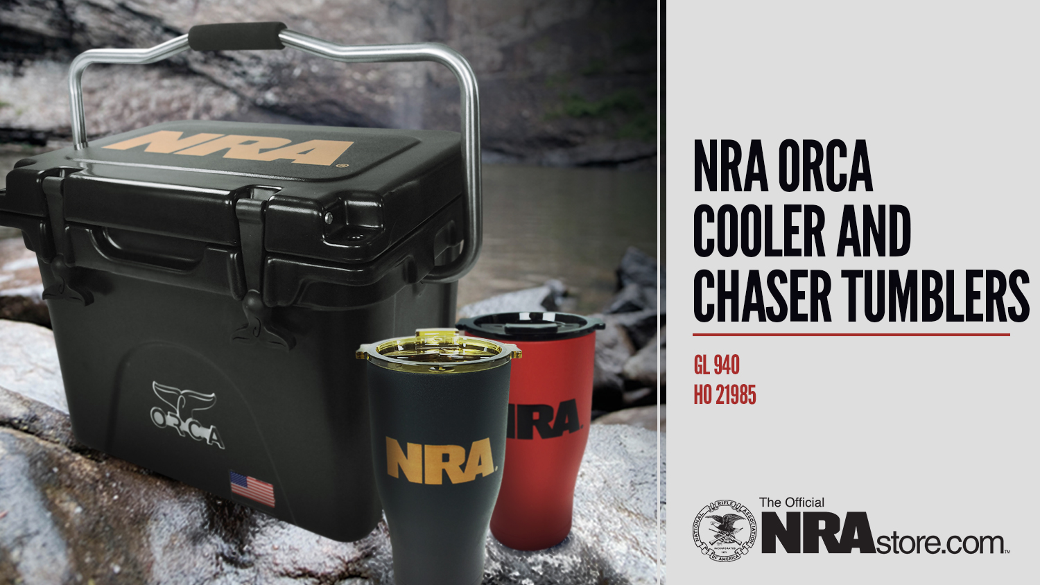 NRAstore Product Highlight: NRA Orca Cooler and Chaser Tumblers