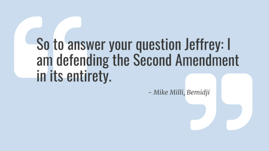 The Bemidji Pioneer: Letter to the Editor: Defending the Second Amendment in its entirety