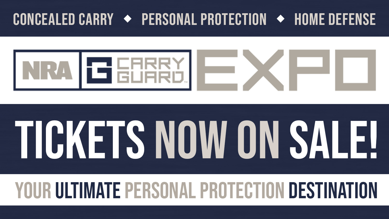 2018 NRA Carry Guard Expo Tickets On Sale Now!