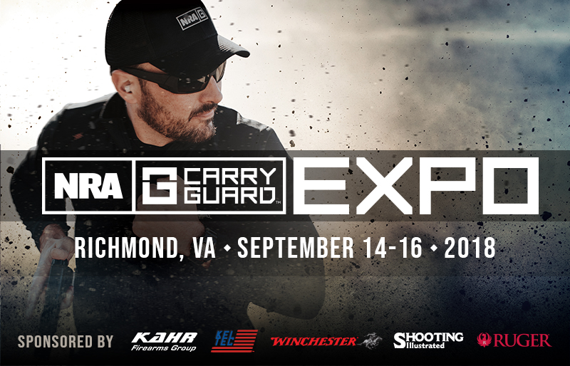 Sponsors Announced for the 2018 NRA Carry Guard Expo This September in Richmond