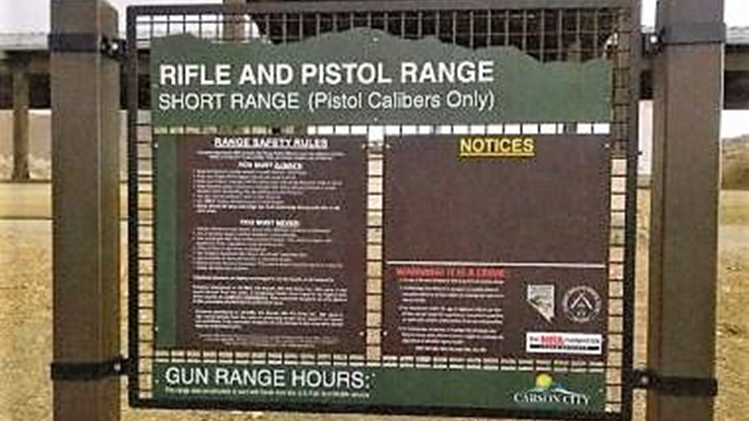 CarsonNow.org: New signage at Carson City Rifle and Pistol Range