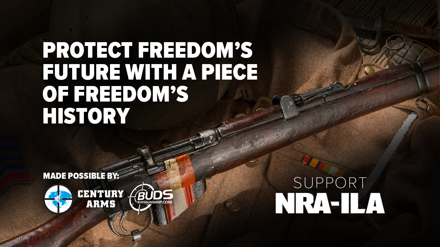 Support the NRA with a Historic Enfield Rifle