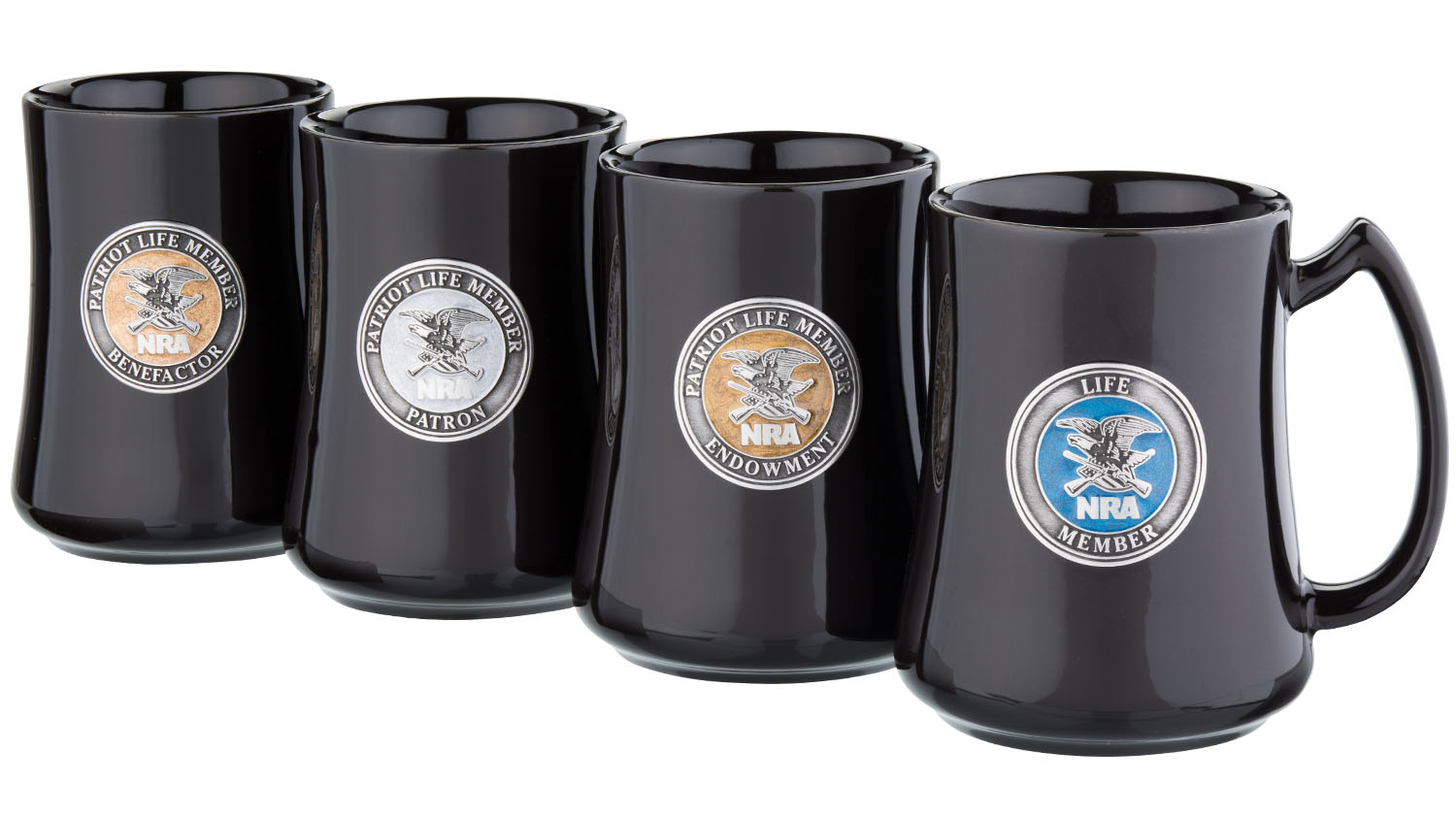 New NRAstore Gear: NRA Patriot Pewter Emblem Mugs