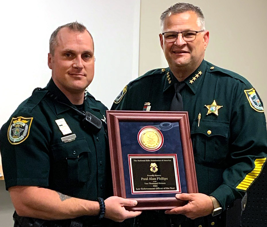 NRA Honors Deputy Paul Phillips as the 2019 NRA Law Enforcement Officer of the Year
